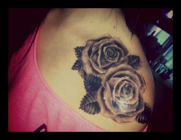 Rose Tattoo Hummingbird