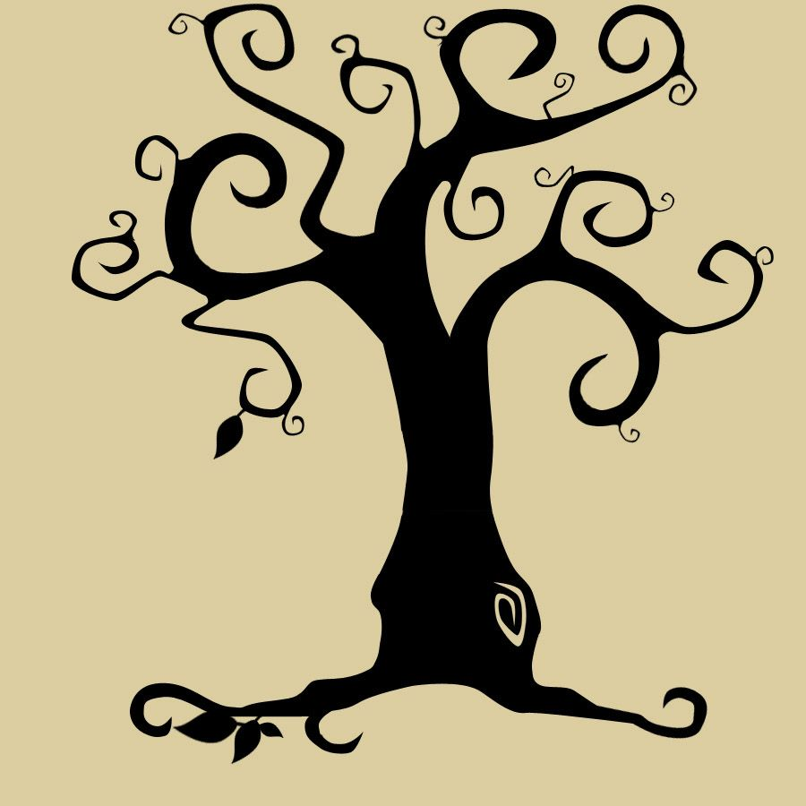 Tim Burton Tree. Of course there are swirls and trees in his ...