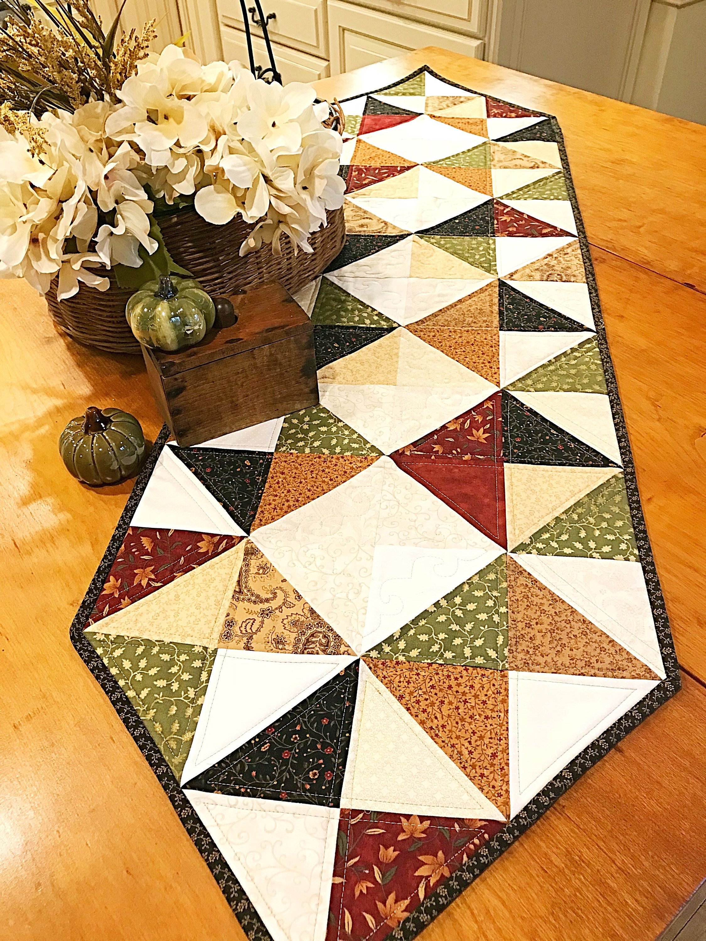 Easy quilt patterns pdf table runner pattern farmhouse