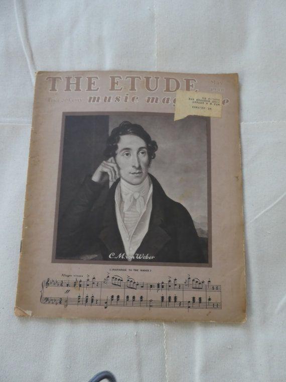 Summer Vacation-Music Magazine- The ETUDE -Vintage Paper