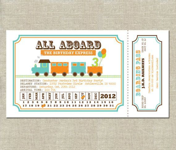 17 Awesome train ticket template printable images Thomas Party - invitation ticket template