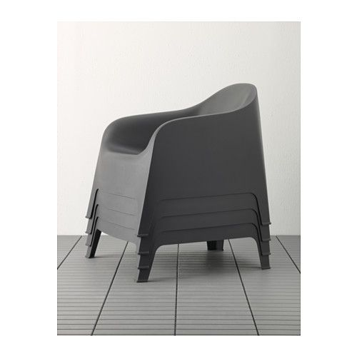 Skarp armchair outdoor white armchairs tiny house - Chaise polycarbonate ikea ...