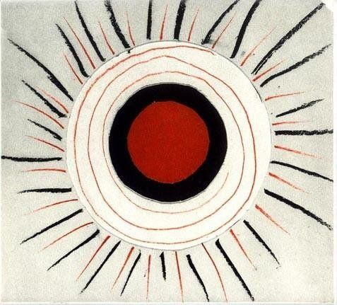 Red And Black Sunburst By Sir Terry Frost Obe 1915 2003 Art Abstract Artists Print Artist