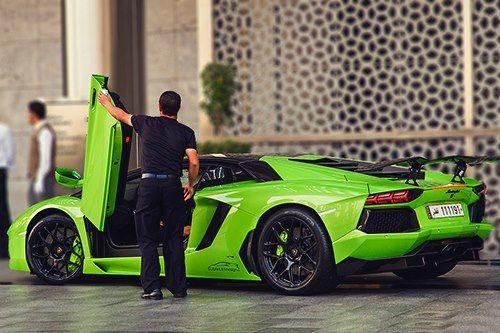 you like the color ?  Lamborghini Aventador