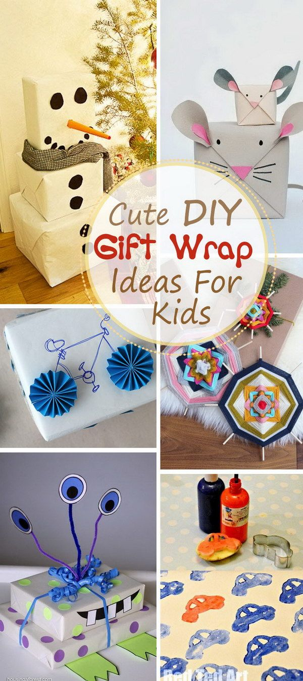 Christmas Ideas For Kids Gifts.Cute Diy Gift Wrap Ideas For Kids Share Your Craft Cute