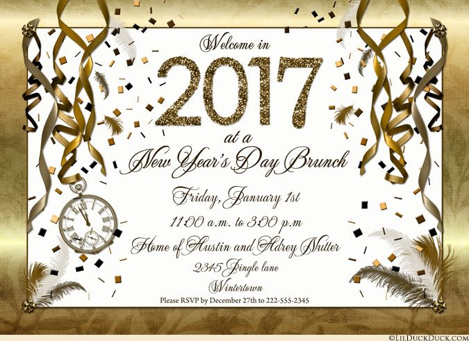new years day brunch invitation wording idea