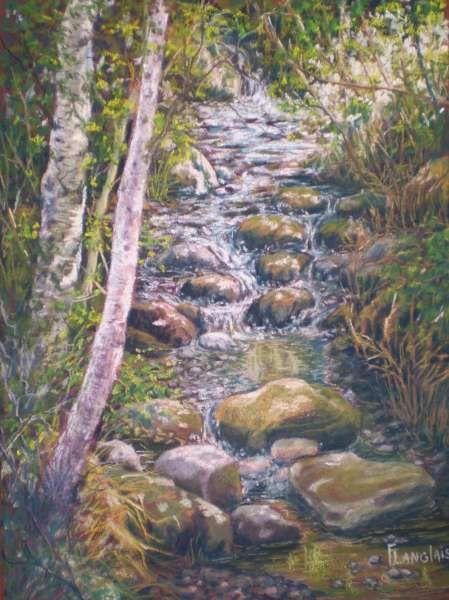 medium Pastel sec - Peinture - Francine Langlais