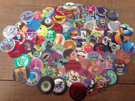 Lot of Vintage POGS, 60 POGS, 90s Toys and Collectibles