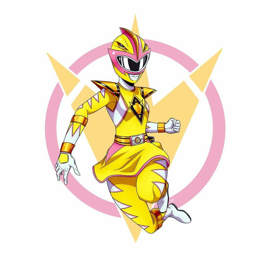 Mmpr Dino Thunder Hybrid Rose Yellow Pterodactyl Ranger Artist