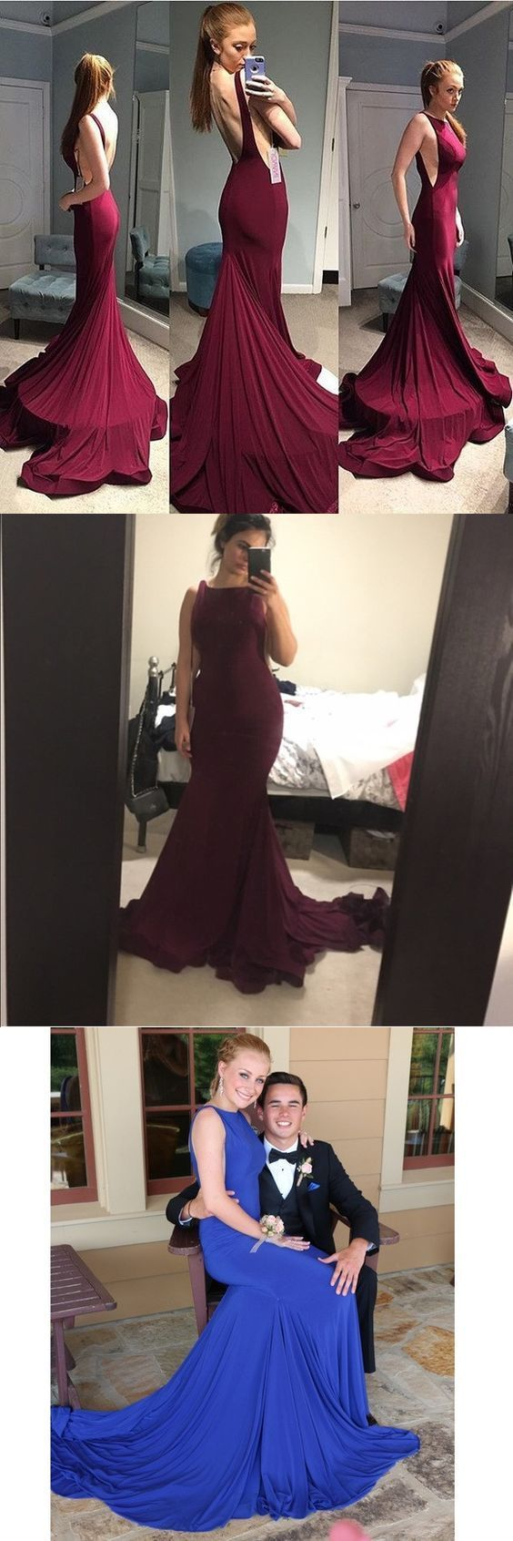 Burgundy prom dresses long prom dresses trumpetmermaid prom