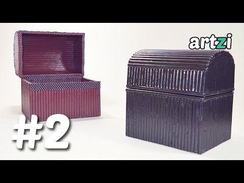 Bau Caixa De Rolinho De Revista 2 Youtube Como Fazer Um