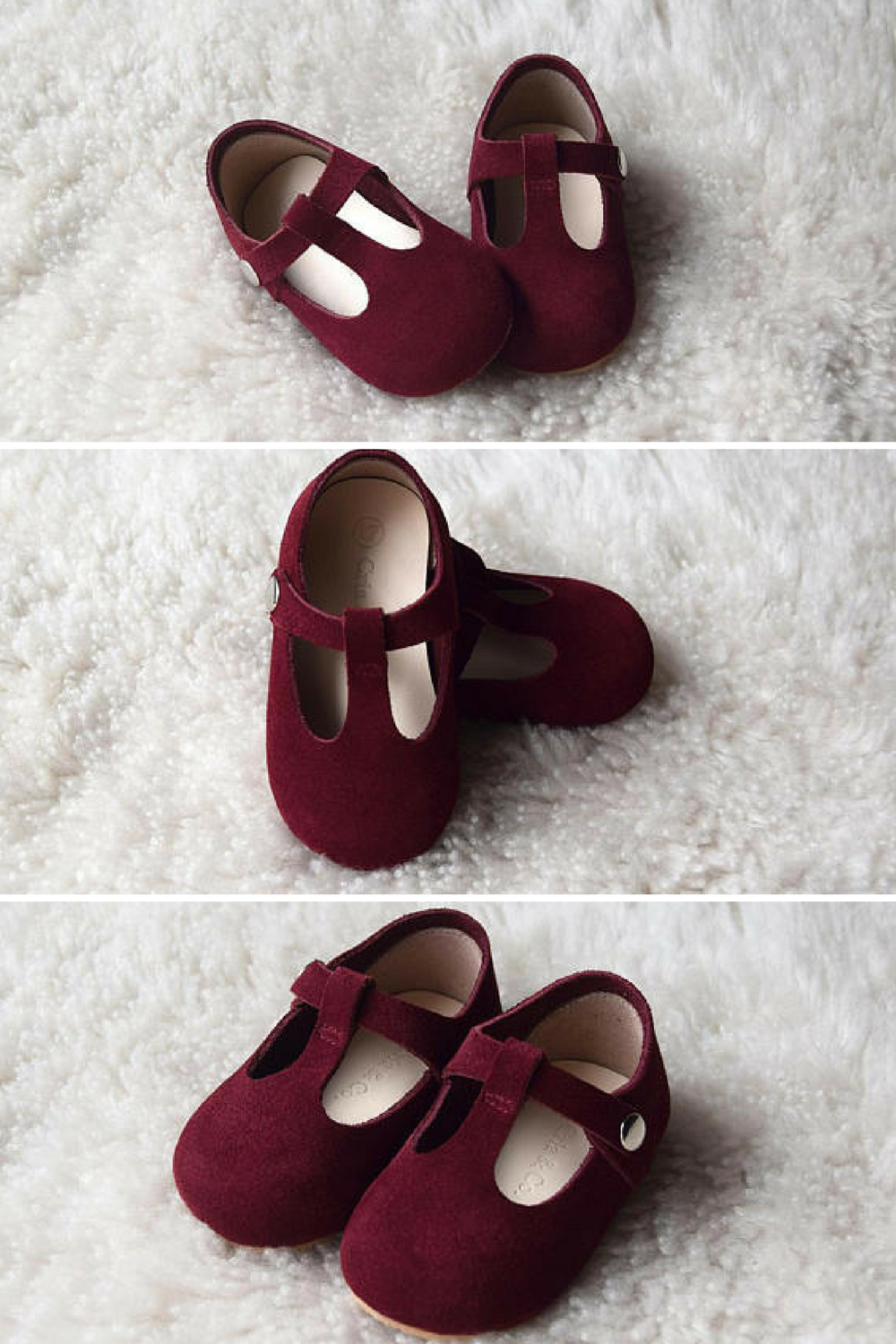 29a59f1f62ca7 Christmas Shoes! Burgundy Baby Girl Shoes, Leather T Strap Mary Jane ...