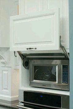 Mira estos 25 muebles de cocina para colocar tu microondas | CARNE ...
