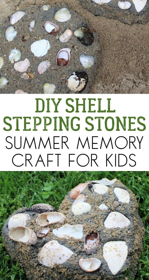 Diy Shell Stepping Stone To Make With Kids Stepping 400 x 300
