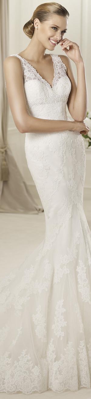 """Mariage style mexicain // Mexican style wedding > Robe de mariee en dentelle - Modele Pronovias """"Diango"""", Collections 2013   #mariage #wedding"""