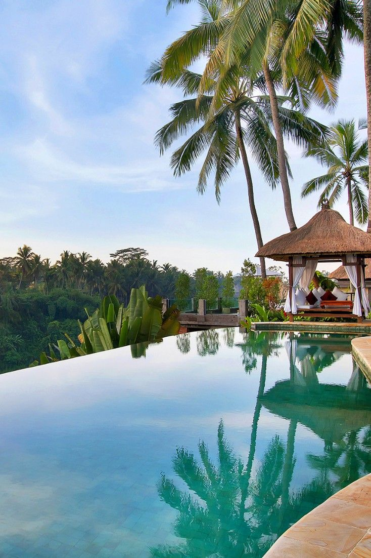 Built into a steep hillside, the Viceroy overlooks a river gorge at the east end of Ubud. #Jetsetter