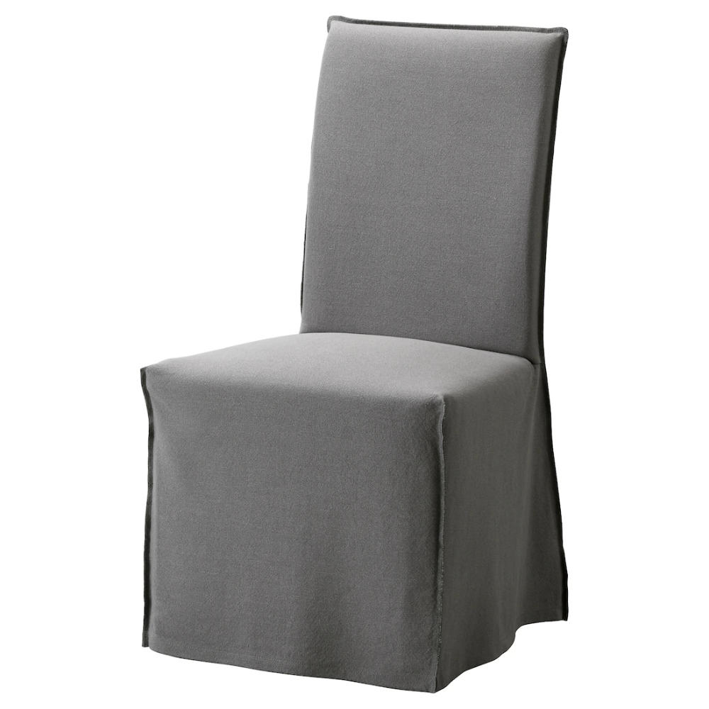 HENRIKSDAL Chair cover, long Risane gray IKEA (With