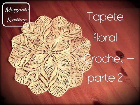 Tapete floral a crochet parte 1(diestro) - YouTube