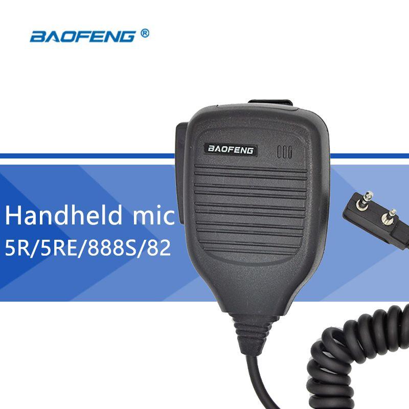 Baofeng de mano micrófono para baofeng uv-5r walkie talkie altavoz mic micrófono para radio cb portátil para bf-888s uv-82