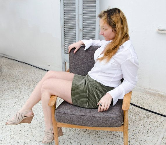 Sample Sale Olive Green Corduroy Skirt, Pleated Mini Skirt, Womens ...