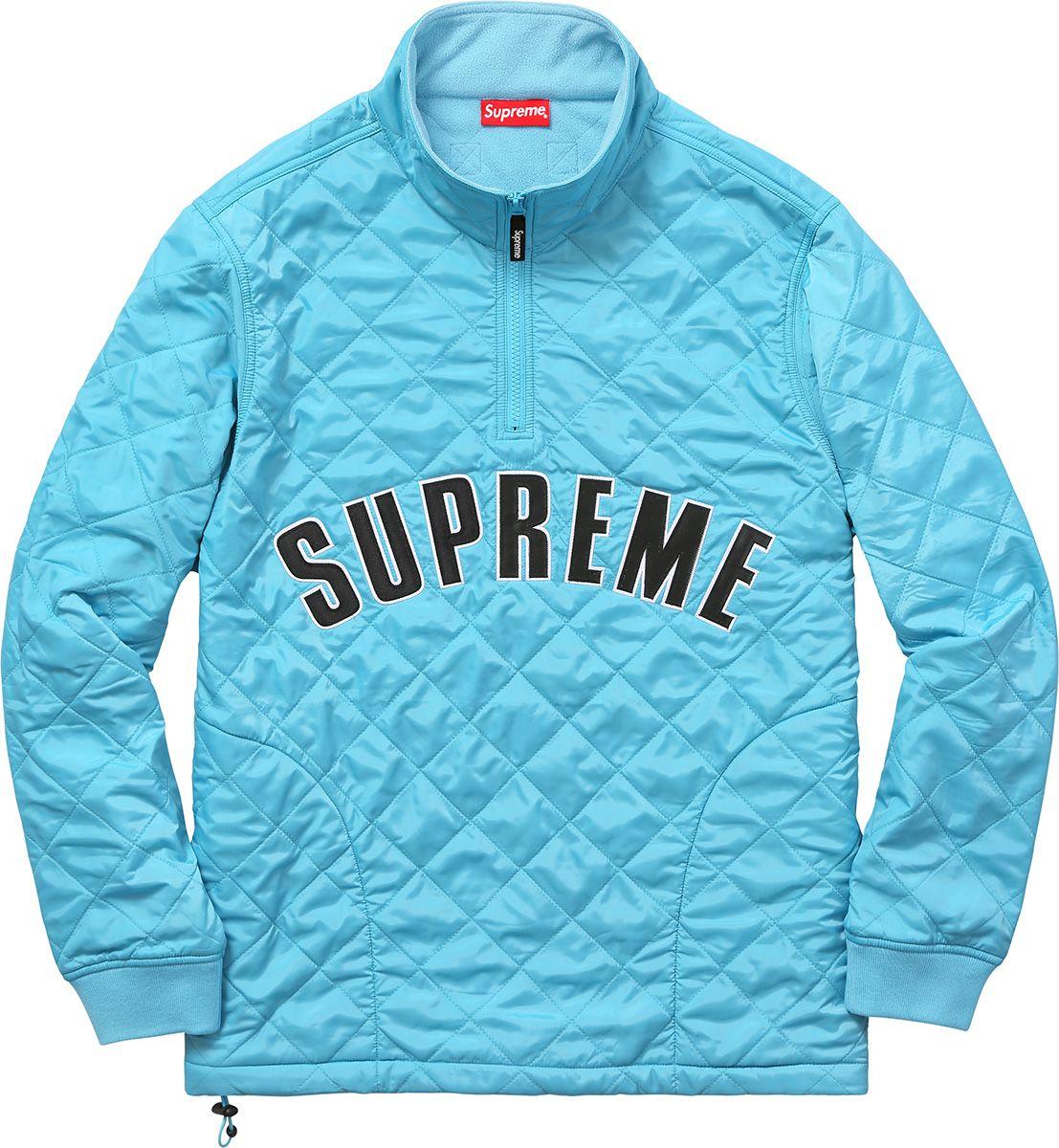 Supreme Arc Logo Quilted Half Zip Pullover | Men's style | Pinterest