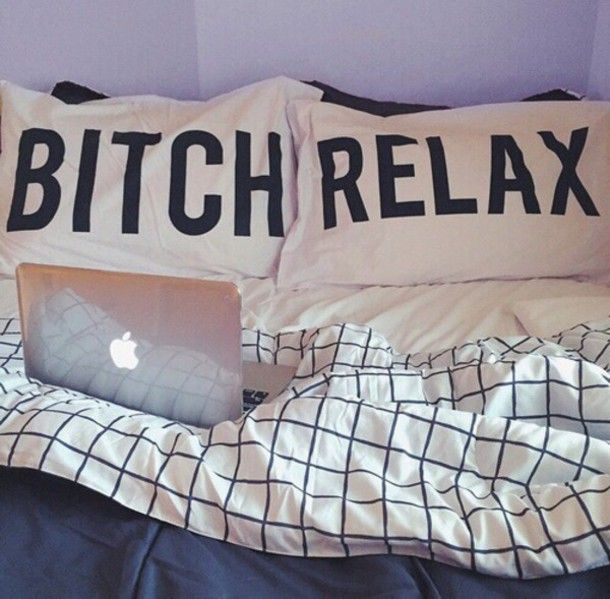 top sheets bitch relax bedding home accessory pillow bitch hipster bedding black and ...