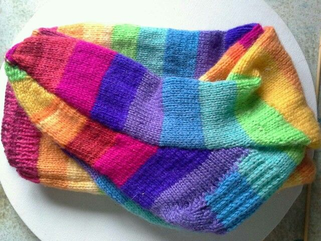 Groovy hand knitted sox