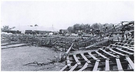 The remains of the main tent after the Hartford circus fire.