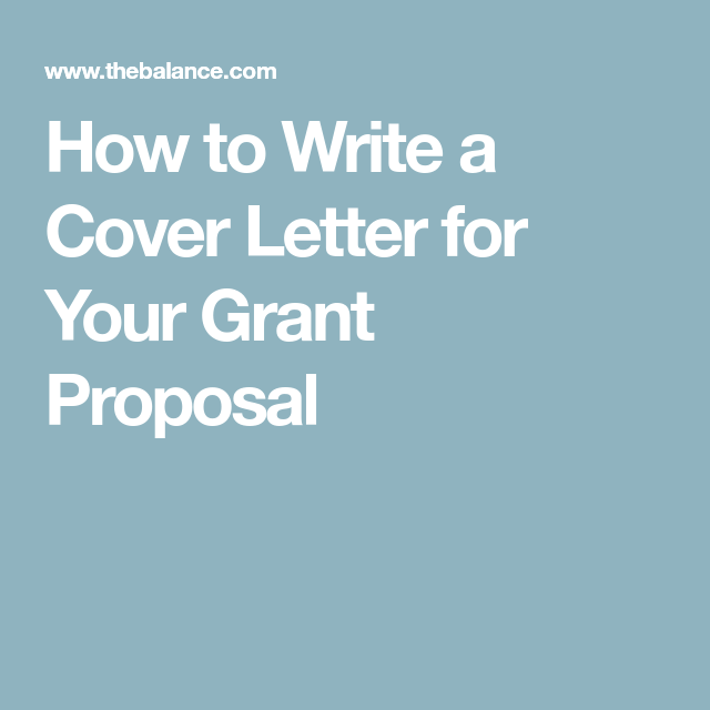 how to write an effective grant proposal cover letter - Grant Proposal Cover Letter