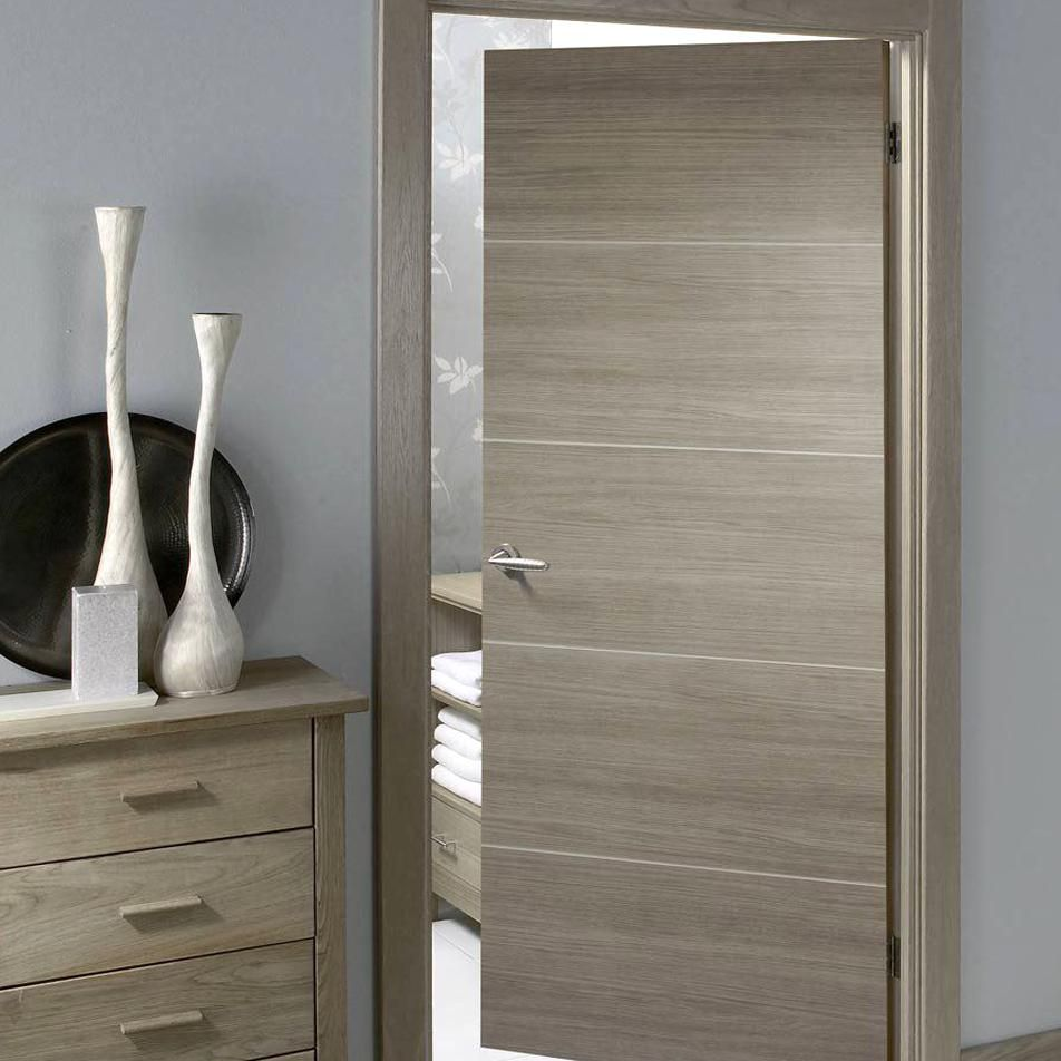 Laminate Santandor Light Grey Door Is 12 Hour Fire Rated And Prefinished Lifestyle Image Contem In 2020 Doors Interior Modern Doors Interior Door Design Interior