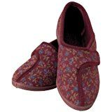 fca3c938a62 Dr Keller Womens Diabetic Orthopaedic Wide Fit Adjustable Comfort Slippers   Amazon.co.uk  Shoes   Bags