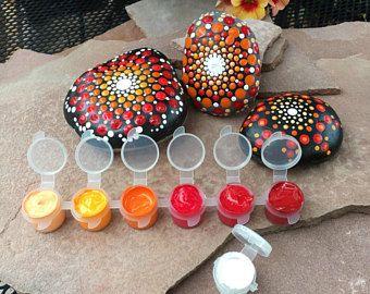 Diy Mandala Rock Painting Kit, All Inclusive - Blues DIY Mandala Rock Painting Kit, all inclusive - Blues Diy diy craft kits for adults