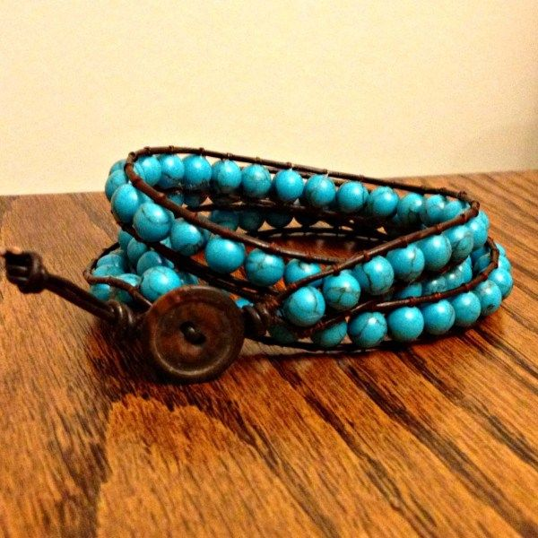 DIY Wrap Bracelet {tutorial | Homemade, Turquoise and ...