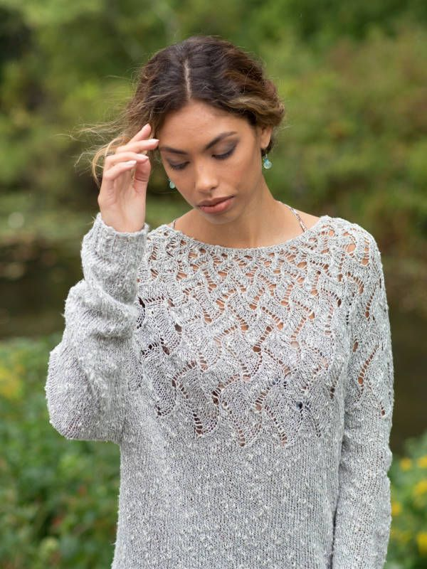 Free Knitting Pattern for a Lightweight Lace Sweater ...