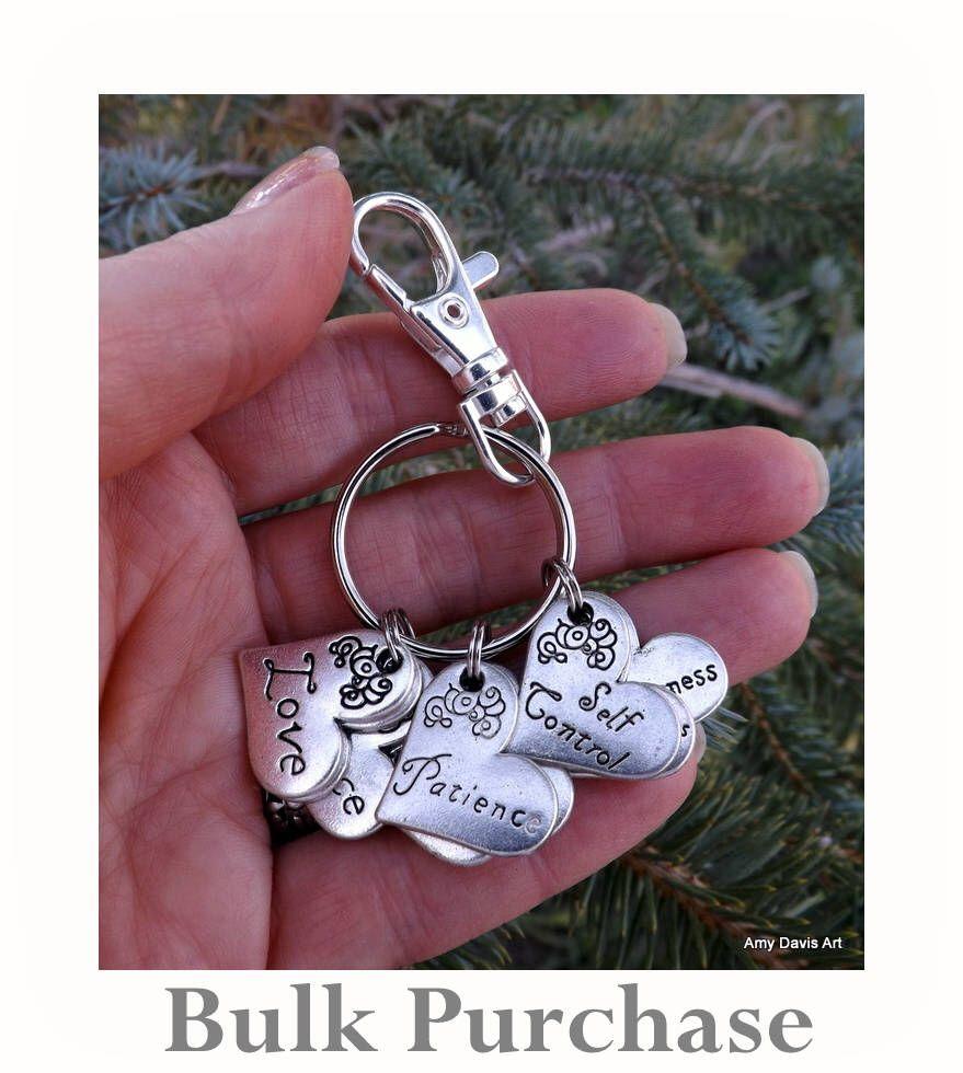 Bulk purchase fruit of the spirit keychain christian