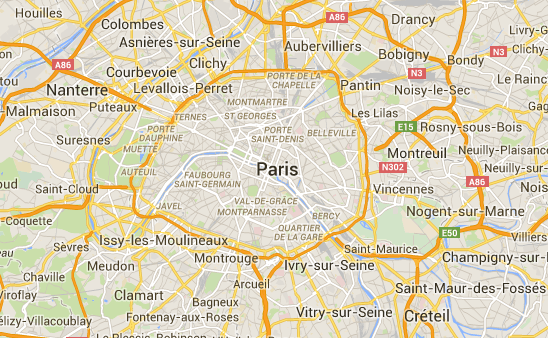 Map paris neighborhoods