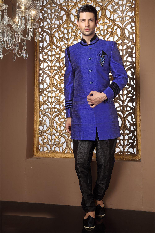 Royal blue sherwani | My wedding ideas wishlist | Pinterest