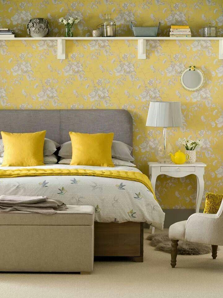 Best Gorgeous Yellow And Grey Bedroom Bedroom Vintage Yellow 400 x 300