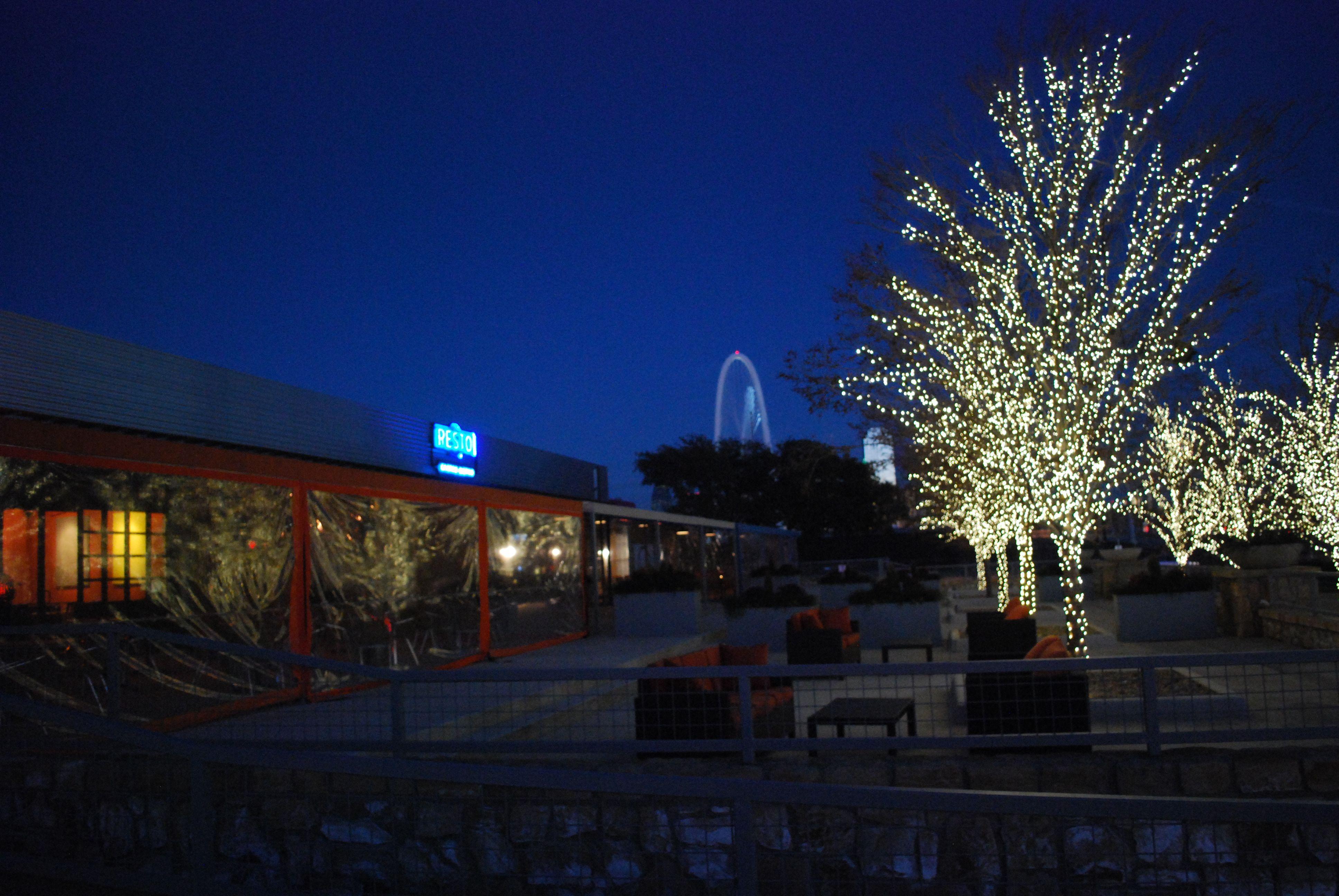 Dusk trinity groves west dallas restaurants ceiling