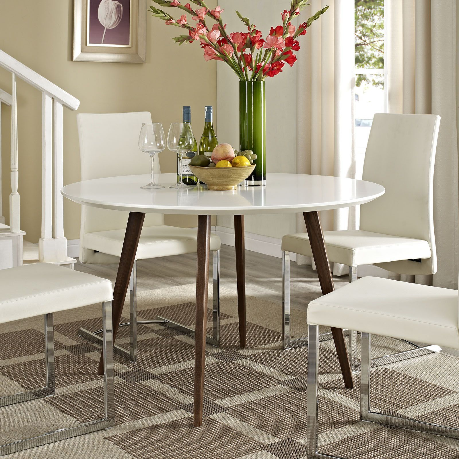 Incorporate Mid Century Modern Style Into Your Dining Decor With This  Artistic Canvas Dining Table
