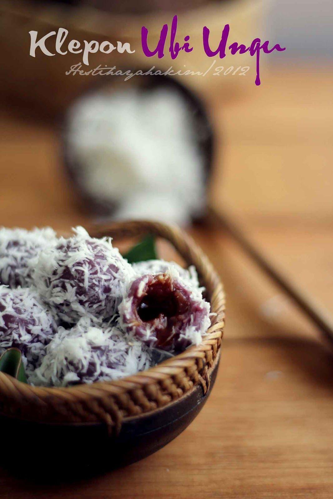 HESTI'S KITCHEN : yummy for your tummy...: Klepon Ubi Ungu