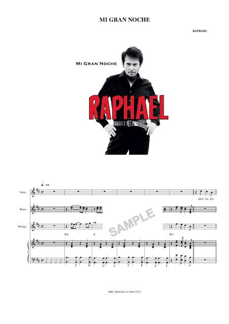 Mi Gran Noche Raphael Musica Partituras Partituras Piano Partituras