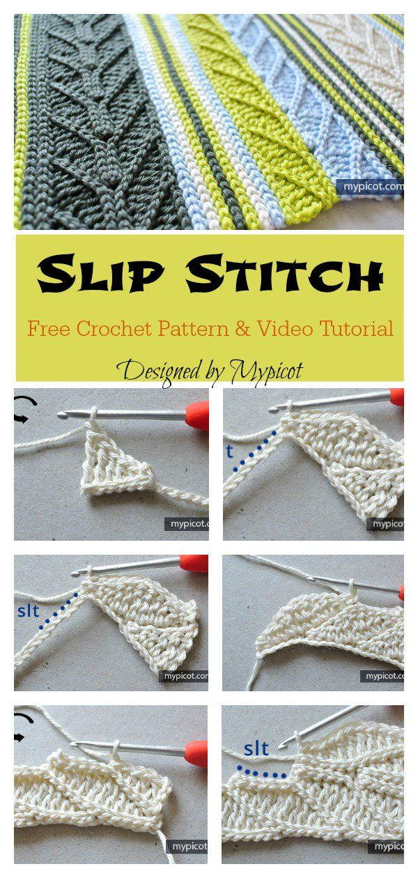Slip Stitch Free Crochet Pattern and Video Tutorial #crochetstitches