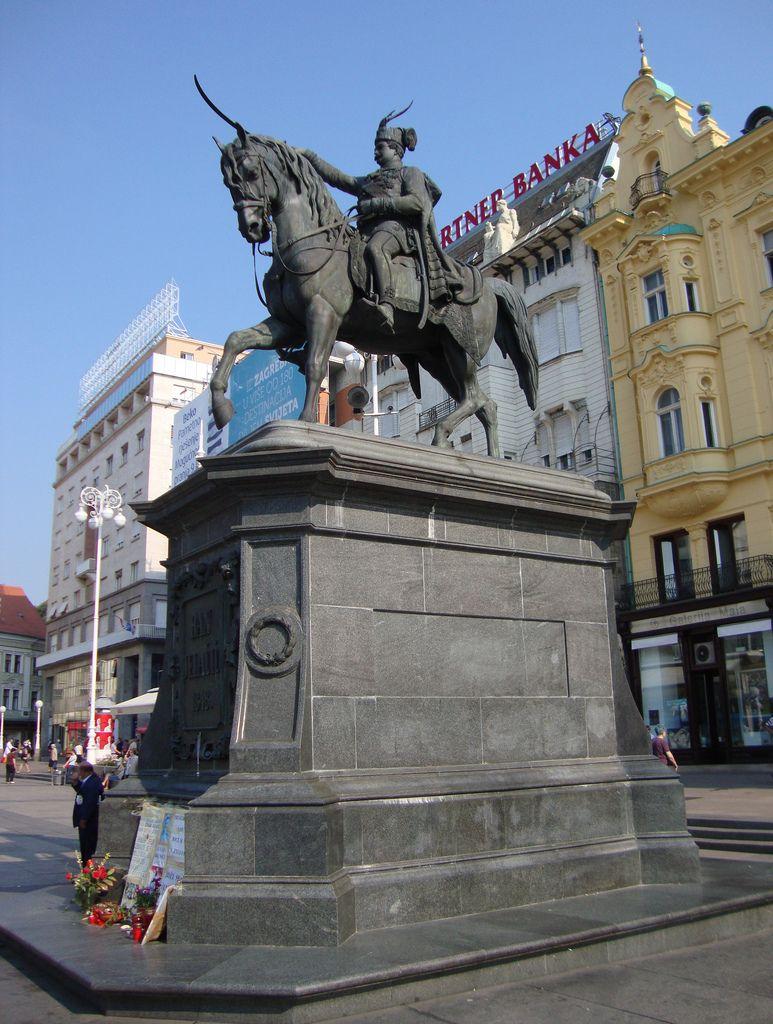 Ban Josip Jelacic Statue Zagreb Croatia Zagreb Croatia Zagreb Croatia