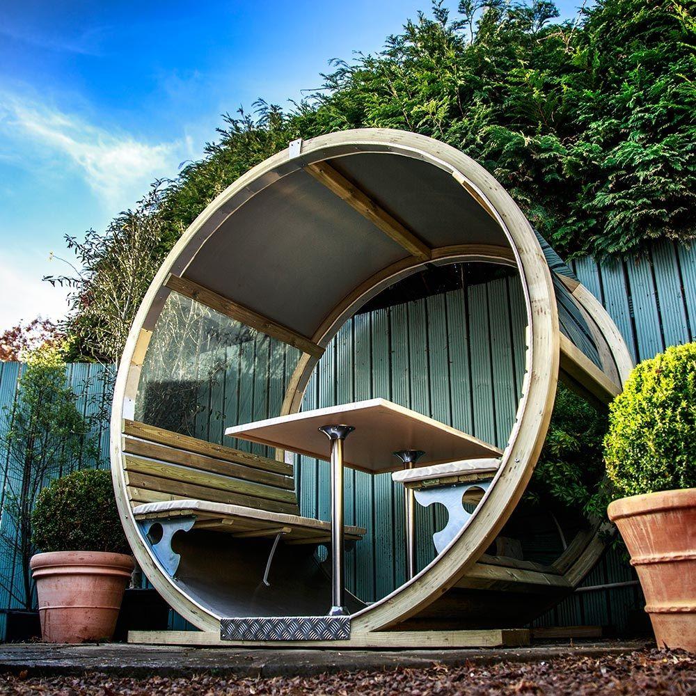 Unique Garden Wheel Bench Garden pods, Unique gardens