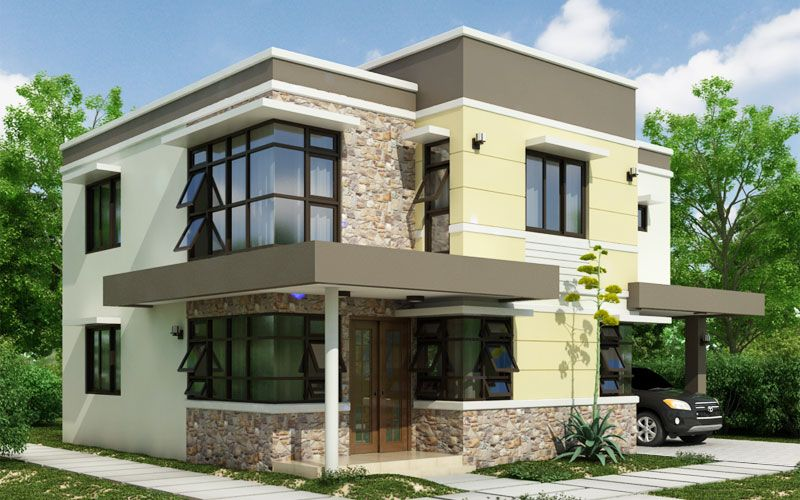 Pinoy House Design 2015011 Is A Two Storey Which Showcases Combination Of Uniqueness Class Sophistication And Aesthetics Rolled Into One Everyone