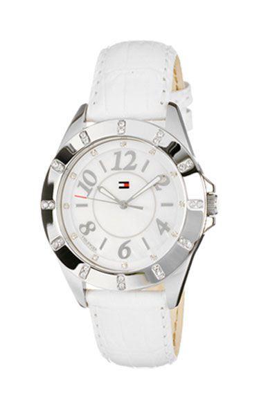 Figura Colapso Marco Polo  Reloj Tommy Hilfiger blanco correa de cuero. | Leather, Leather watch,  Accessories