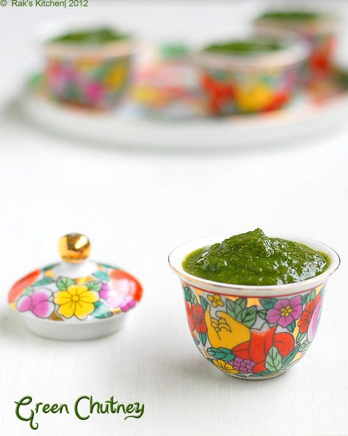 Green chutney recipe for sandwiches and Indian chaat recipes