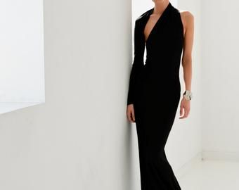One Shoulder, Backless Dress, One Shoulder Dress, Fancy Dress, Women Dress, Full Length Dress, Dress For Women, Marilyn Gown, MD0141 #shortbacklessdress