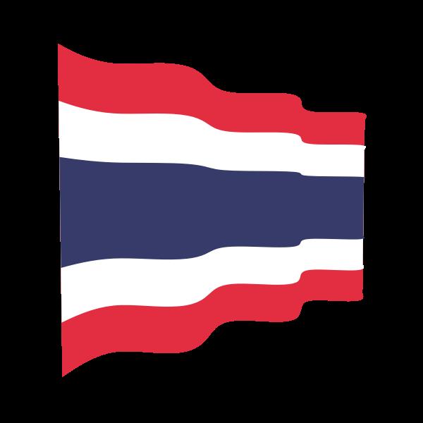 Thailand Waving Flag Flag Free Clip Art Thailand